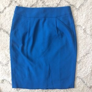 "J. Crew ""The Pencil Skirt"" in royal blue POCKETS!"